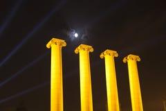 Las cuatro columnas Fotografía de archivo libre de regalías