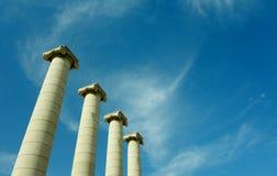 Las cuatro columnas de Barcelona Imágenes de archivo libres de regalías