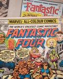 Las cuatro cubiertas de cómic fantásticas publicaron por los tebeos de la maravilla Foto de archivo
