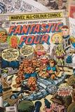 Las cuatro cubiertas de cómic fantásticas publicaron por los tebeos de la maravilla Imágenes de archivo libres de regalías
