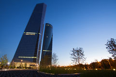 Las Cuatro Torres financial center Stock Photo
