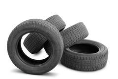 Las cubiertas del neumático del automóvil estaban en el uso Imágenes de archivo libres de regalías