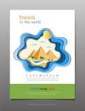 Las cubiertas mínimas reservan vector de la plantilla del diseño, viaje y el concepto del turismo, uso para el folleto, informe a libre illustration