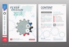 Las cubiertas reservan el vector de la plantilla del diseño, conceptos de la ingeniería del negocio, uso para el folleto, informe ilustración del vector