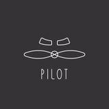 Las cuchillas del aeroplano del logotipo de los aviones diseñan el elemento Foto de archivo