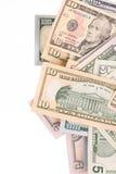 Las cuentas de dólar se cierran para arriba Macro Fotografía de archivo libre de regalías