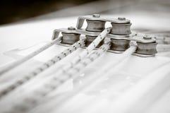 Las cuerdas de la navegación, sepia entonaron Fotografía de archivo