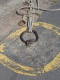 Las cuerdas del puerto del irlandés Foto de archivo