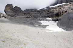Las cuestas de las montañas del suizo de Eiger Foto de archivo libre de regalías