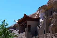 Las cuevas de Dunhuang Imágenes de archivo libres de regalías