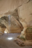 Las cuevas de la tiza, Israel fotografía de archivo libre de regalías