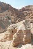 Las cuevas del qumeran Fotos de archivo