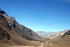 Las cuevas. IN (A small village in Andes mountains range Stock Image
