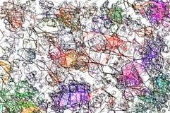 Las curvas abstractas colorearon el fondo fotografía de archivo libre de regalías