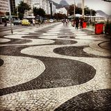 Las curvas de Rio de Janeiro Imagen de archivo