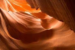 Las curvas en un barranco más bajo del antílope, página, Arizona Imagen de archivo