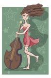 Las danzas de la muchacha Imagenes de archivo