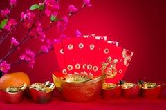 Las decoraciones chinas del Año Nuevo, carácter chino del generci simbolizan Fotografía de archivo