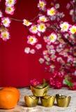 Las decoraciones chinas del Año Nuevo, carácter chino genérico simbolizan Fotografía de archivo