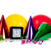 Las decoraciones de la Noche Vieja Imagen de archivo libre de regalías