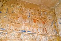 Las decoraciones egipcias Imagen de archivo libre de regalías