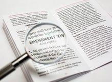 Las derechas civiles en la constitución de los Estados Unidos fotos de archivo