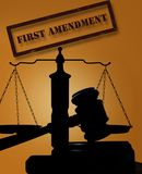 Las derechas de la Primera Enmienda fotos de archivo