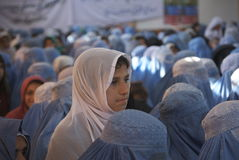 Las derechas de las mujeres afganas imagenes de archivo