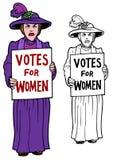 Las derechas de las mujeres exigentes del Protestor Foto de archivo libre de regalías