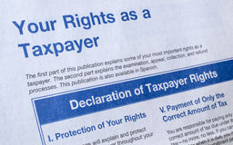 Las derechas del impuesto Imágenes de archivo libres de regalías