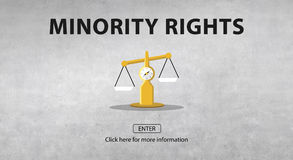 Las derechas del juicio de la ley que pesan concepto legal stock de ilustración