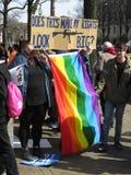 Las derechas lesbianas gay en la reunión Foto de archivo