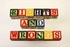 Las derechas y los males del término Foto de archivo