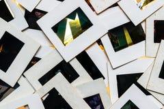 Las diapositivas en blanco de la foto del vintage iluminaron el fondo Fotografía de archivo libre de regalías