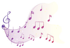 Las diversas notas musicales stock de ilustración
