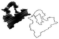 Las divisiones administrativas de la nueva ciudad de Taipei de Taiwán, la República de China, ROC, los municipios especiales traz ilustración del vector