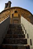 Las do de do castillo de Lanzarote a torre velha do castelo da parede Foto de Stock