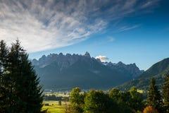 Las dolomías de Italien, el Tyrol del sur e italien las montañas, paisaje hermoso de la montaña, tre cime di lavaredo Imagen de archivo libre de regalías