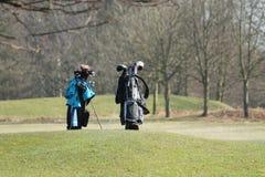Las bolsas de golf. Imagen de archivo