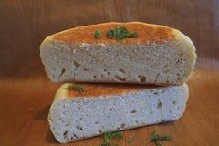 Las dos mitades del pan Imagen de archivo libre de regalías