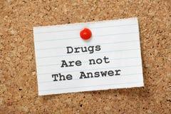 Las drogas no son la respuesta foto de archivo
