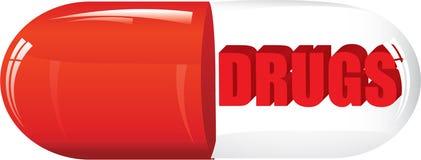 Las drogas - utilice una medicina si usted es enfermo Imagen de archivo libre de regalías