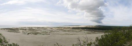 Las dunas de arena en Curonian escupen, Lituania, Europa Imagenes de archivo