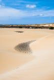 Las dunas de arena en Viana abandonan - Deserto de Viana en Boavista - el cabo Imágenes de archivo libres de regalías