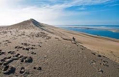 Las dunas de Pilat en Francia, el más alto de Europa imagenes de archivo