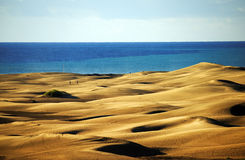 Las Dunas des Maspalomas Royalty Free Stock Photo