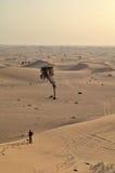 Las dunas en el desierto, Dubai Foto de archivo libre de regalías