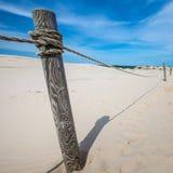 Las dunas móviles parquean cerca del mar Báltico en Leba, Polonia Foto de archivo