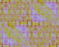 Las elipses complejas modelan verde amarillo y anaranjado púrpuras diagonalmente libre illustration