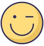 las emociones del centelleo, vector de los emoticons aislaron el icono que puede modificarse o corregir fácilmente ilustración del vector
